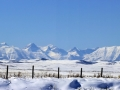 Crowsnest Highway 3 White October Panoramic View - Stitch IMGS 8229-8230
