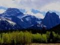 Rocky Mountains East of Canmore Alberta, 2013 05 14, ST IMGS 2369-70