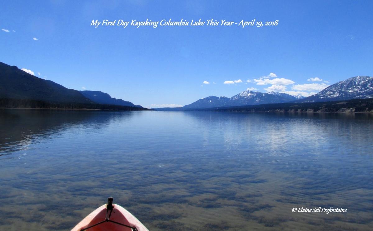 Columbia Lake - First Day 2018 Kayaking - 2018 04 19 IMG_1258 pic