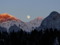 FULL MOON & SUNSET OVER ROCKIES 2014 12 03 IMG_6764