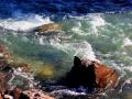 Dutch Creek BC - Waters Rushing Around Boulders 2013 07 30 IMG_4077