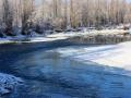 Beautiful Blue Kootenay River at Fort Steele Bridge 2013 12 10 IMG_7547