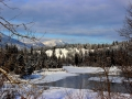Kootenay River By Skookumchuck BC Bridge in December - Purcell Mountains in Background 2013 12 10 IMG_7480