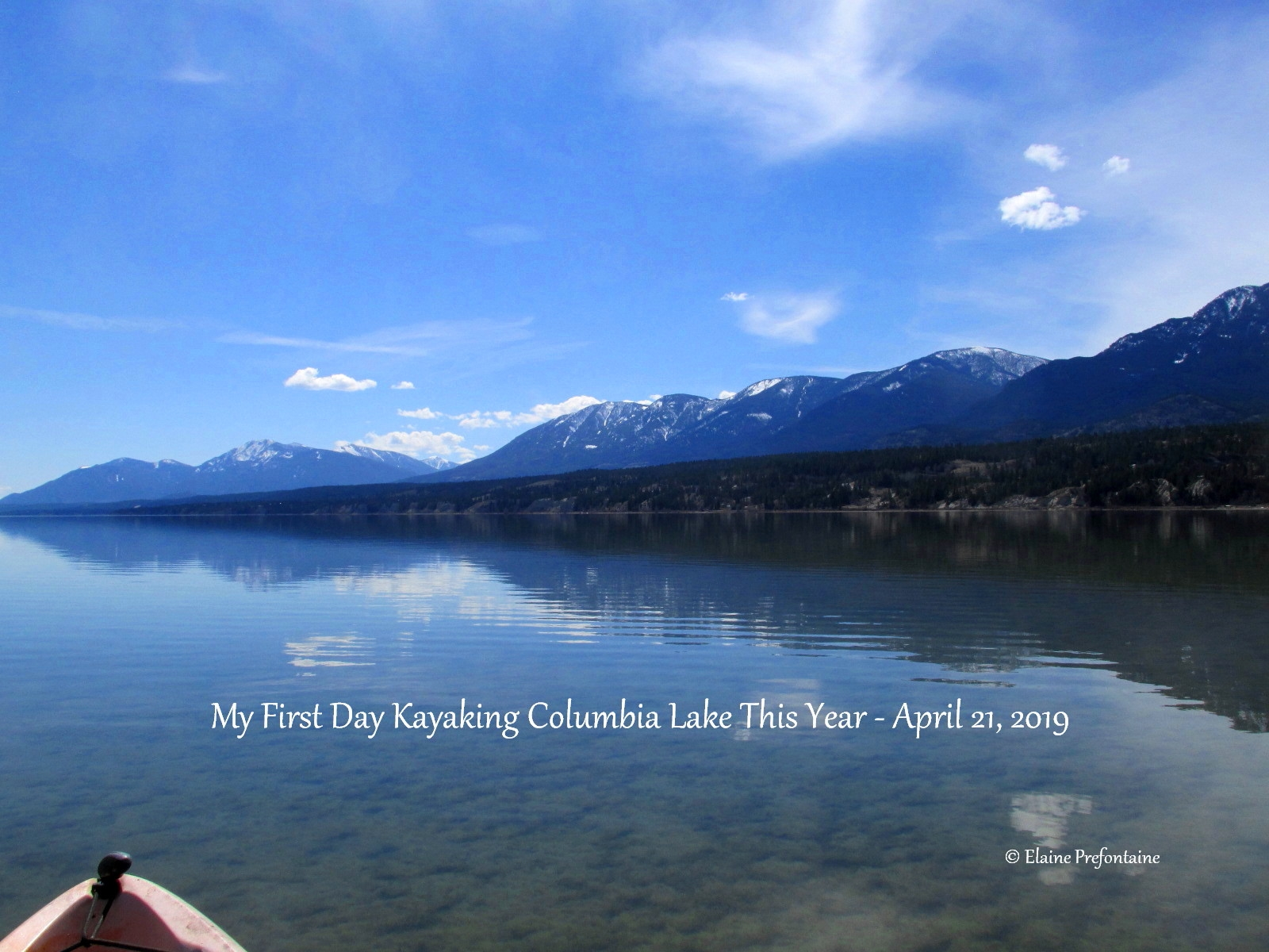Columbia Lake First Day 0f 2019 Kayaking - 2019-04-21-IMG_3503