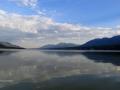 Columbia Lake Evening Kayaker 2015 07 12 IMG_5593