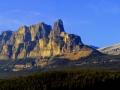 Castle Mountain, Alberta - Panoramic October Sunset 2013 10 25 PAN IMGS 7269-7270