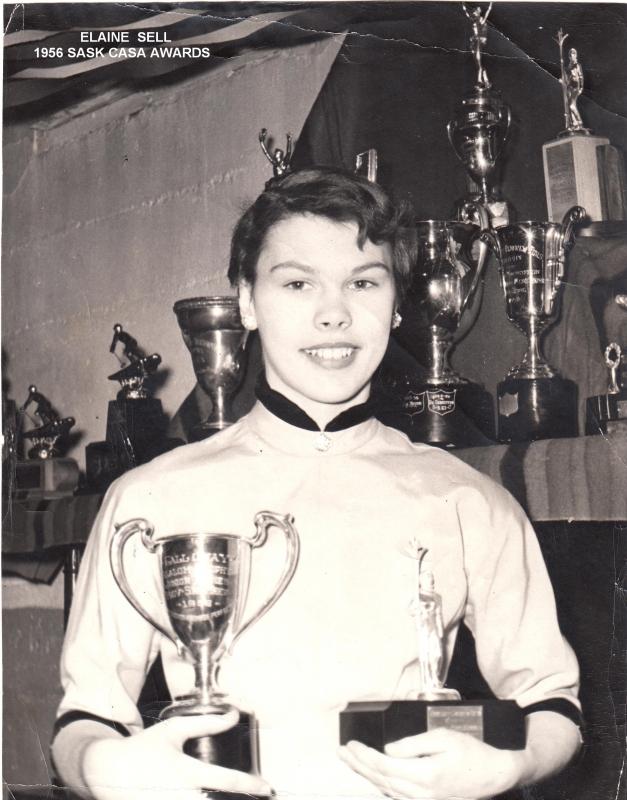 Elaine Sell - Best All Around Lady Skier Saskatchewan 1956