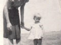 Elenora Sell (1917 -    ) and Daughter Elaine -  Early 1940's - SW of Rockglen, Saskatchewan