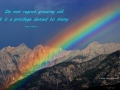 Fairmont Rockies Rainbow with Quotation 2013 08 25 IMG_4537 pic