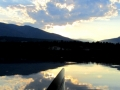 Paddling West to Purcell Mountains August Sunset 2014 08 09 IMG_1821